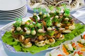 stock photo of buffet catering  - Catering buffet style  - JPG
