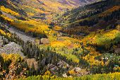 Autumn valley in San Juan mountains