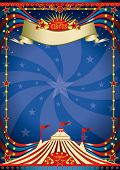 Circus night poster. A blue circus background for a poster