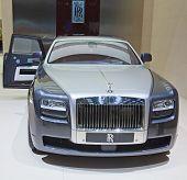 GENEVA - MARCH 8: The Rolls Royce Phantom Spirit on display at the 81st International Motor Show Palexpo-Geneva on March 8; 2011 in Geneva, Switzerland.