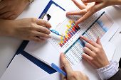 stock photo of accounting  - Financial paper charts and graphs on the table - JPG