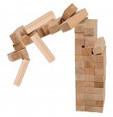 stock photo of jenga  - Wooden blocks - JPG