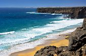 vista del Aljibe de la Cueva Beach en El Cotillo, Fuerteventura, Islas Canarias, España