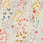 Light floral seamless pattern in vector