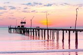 foto of nightfall  - At the End of the Day Nightfall by the Sea - JPG