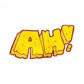 cartoon AH! shout