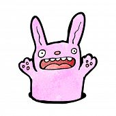 stock photo of rabbit hole  - cartoon pink rabbit - JPG