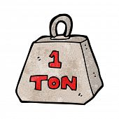 cartoon one ton weight