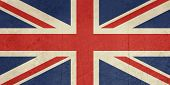 Grunge United Kingdom Flag or Great Britain Union Jack.