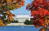 Washington DC, Lincoln Memorial in Autumn