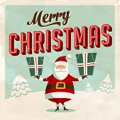 Vintage Christmas Card - Vector EPS10. Grunge effects can be easily removed for a brand new, clean sign