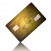 Detail Textured Credit Card on white (Elements of this image furnished by NASA - map derived from  h
