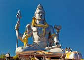 stock photo of shiva  - Statue of Lord Shiva in  Murudeshwar Temple in Karnataka - JPG