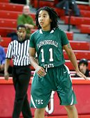 NEW YORK-NOV 3: Farmingdale Rams guard Nikita Green (11) on the court against the St Johns Red Storm