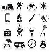 picture of camper  - Camping icons - JPG