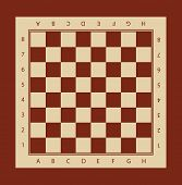 Chessboard. Vector illustration of chessboard. Chess board print template