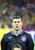 James Milner Of England Sings The National Anthem