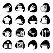 Vector illustration of icons on the food theme