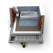 Technical details of a bathroom construction