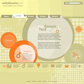 Circle design website template
