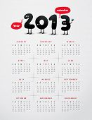 Funny year 2013 calendar - JPG Version