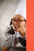 Chef Calling By Phone