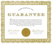 Vector Guarantee Certificate
