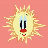 sun with red nose