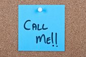 Post It Note With Call Me