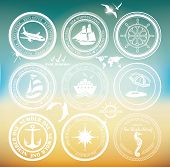 picture of navy anchor  - Retro elements for Summer designs - JPG