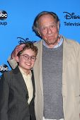 LOS ANGELES - AUG 4:  Sean Giambrone, George Segal arrives at the ABC Summer 2013 TCA Party at the Beverly Hilton Hotel on August 4, 2013 in Beverly Hills, CA