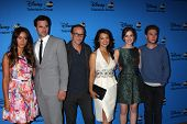 LOS ANGELES - AUG 4:  Chloe Bennet, Brett Dalton, Clark Gregg, Ming-Na Wen, Elizabeth Henstridge, Iain De Caestecker at the ABC TCA Party at the Beverly Hilton on August 4, 2013 in Beverly Hills, CA
