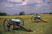 stock photo of battlefield  - Civil War cannon at the Antietam National Battlefield American Civil WarMaryland
