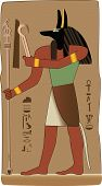 stock photo of embalming  - Anubis invented embalming to embalm Osiris the first mummy - JPG