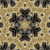 picture of kaleidoscope  - kaleidoscopic picture of feet like print poster or background - JPG