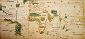 Medieval Map Of The World poster