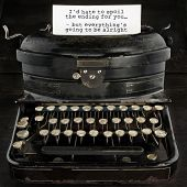 Old Antique Typewriter With Text