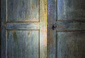 Green Antique Wooden Door