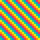 8-bit Seamless Diagonal Rainbow Background Tile