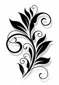 Retro floral element