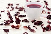 cup of hibiscus tea - tea time