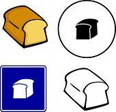 bread loaf illustrations symbol and sign set