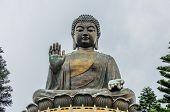 Tian Tan Buddha, Bronze Statue Of A Big Buddha.