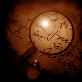 picture of annal  - Close up of Magnifying glass 2D digital art - JPG