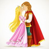 Handsome Prince Kisses The Princess