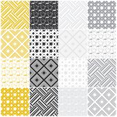 geometric seamless patterns with squares
