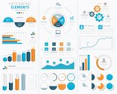 picture of economics  - Big modern business infographic vector elements collection to display - JPG