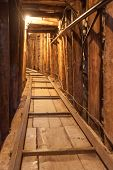 SARAJEVO, BOSNIA AND HERZEGOVINA - AUGUST 12, 2012: Interior of the Sarajevo Tunnel Museum. It was c