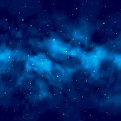 Night sky with stars. Vector.