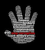 stock photo of corrupt  - Stop Corruption in word collage - JPG
